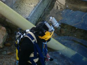 commercial diving services for diver-operated dredging